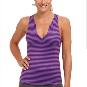 Nike Striped Pure Tennis Tank Top Size XL